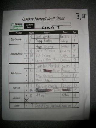 Draft Sheet