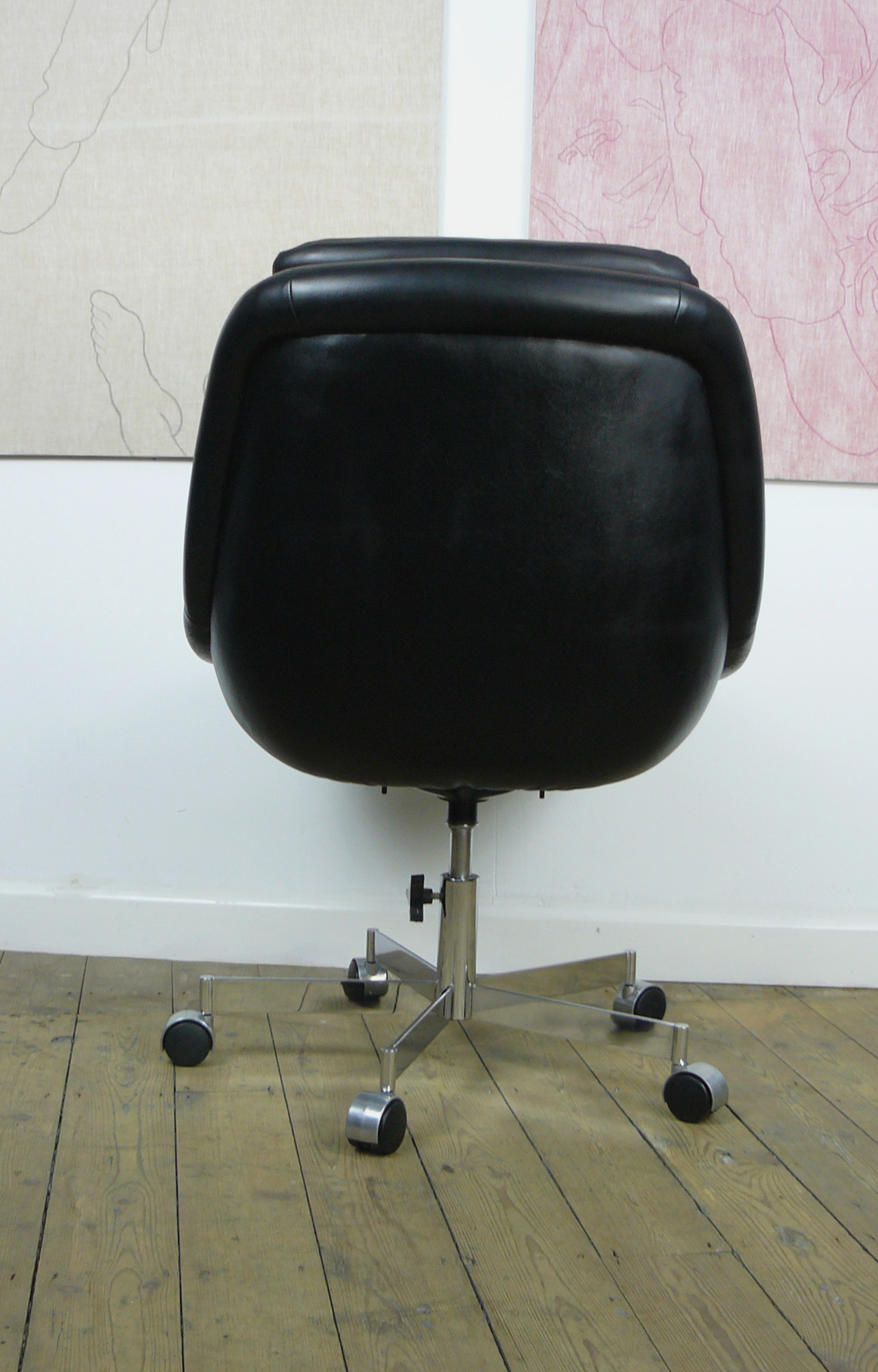 chair covers store near me wheelchair lift for van slick looking vintage 1970s black office mint