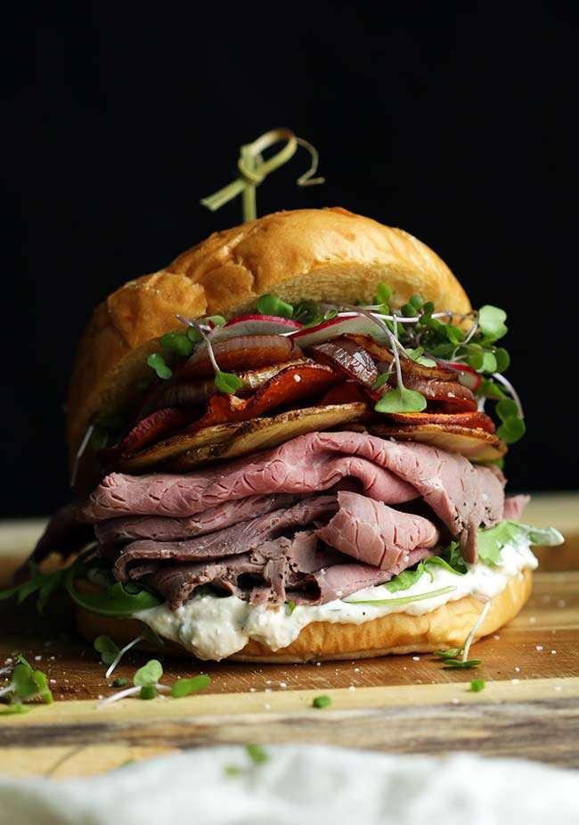 Roast Beef Sandwich Recipe with Horseradish Cream