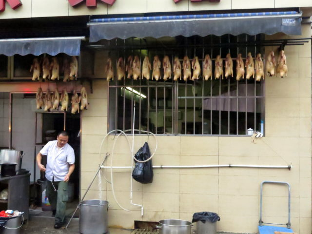 How can I have a trip without a picture of a display of hanging dead ducks? Old City, Shanghai, China, Asia.
