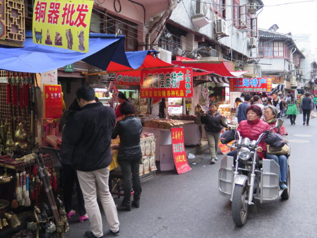 A street market in the Old City. Shanghai, China, Asia.