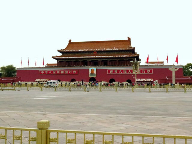 The one and only Chairman Mao watches over Tiananmen Square for eternity. Tiananmen Square, Beijing, China, Asia.