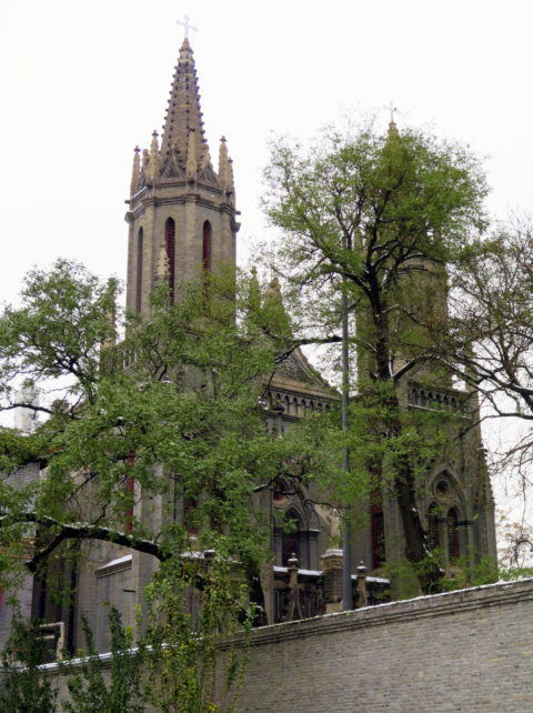 The very Gothic St. Michael's Church, built by the French in 1901. Beijing, China, Asia.