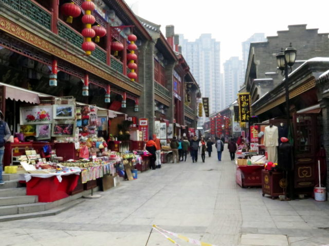 Not-so-ancient shops on Ancient Culture Street. Tianjin, China, Asia.