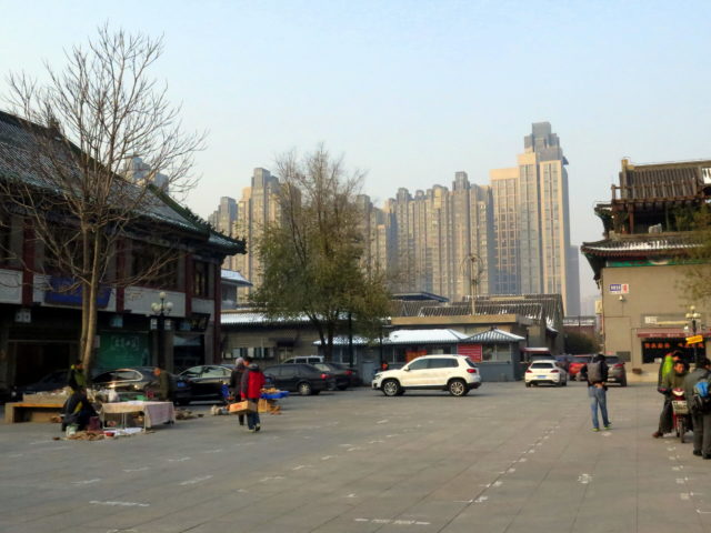 From Old Town to new town. A huge apartment block. Tianjin, China, Asia.