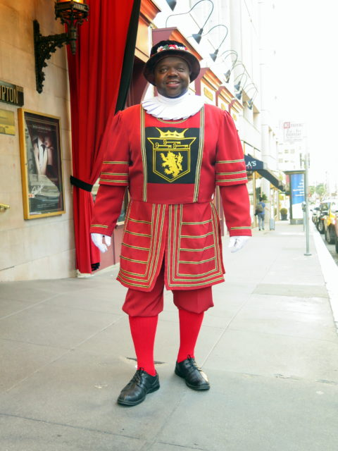 The Beefeater at the Sir Francis Drake welcomes you to San Francisco! United States, North America.