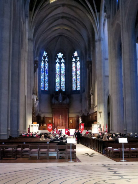 Inside Grace Cathedral. San Francisco, United States, North America.