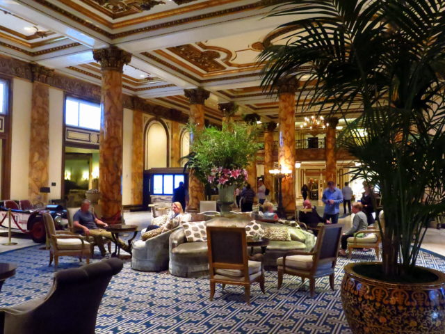 "The beautiful lobby of the Fairmont. The Fairmont is the most historic of San Francisco's historic hotels. In 1945, the United Nations Charter was drafted in the Garden Room. Even more significantly, Tony Bennett debuted his rendition of ""I Left My Heart In San Francisco"" in the Venetian Room in 1961. San Francisco, United States, North America."