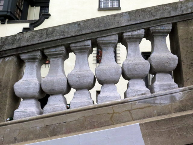 Close-up of a section of the balustrade. San Francisco, United States, North America.