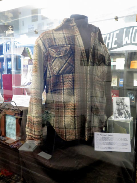 Jack Kerouac's CPO jacket, in his trademark blue-collar style. San Francisco, United States, California.