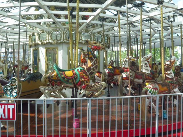 Restored historic carousel, hand-carved in 1906. San Francisco, United States, North America.