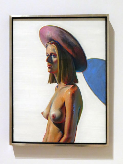 """""""Girl With Pink Hat"""" by Bay Area painter Wayne Thiebaud, 1973. Even for me, the hat isn't the first thing I notice. SFMOMA, San Francisco, United States, North America."""