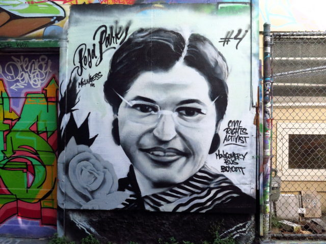 Loving Rosa Parks on Lilac Alley. San Francisco, United States, North America.