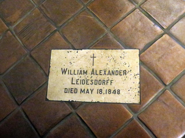 It's always nice to tie things together. Here in the church is the final resting place of William Leidesdorff, whom we previously met on Day 1 along the Barbary Coast Trail. San Francisco, United States, North America.