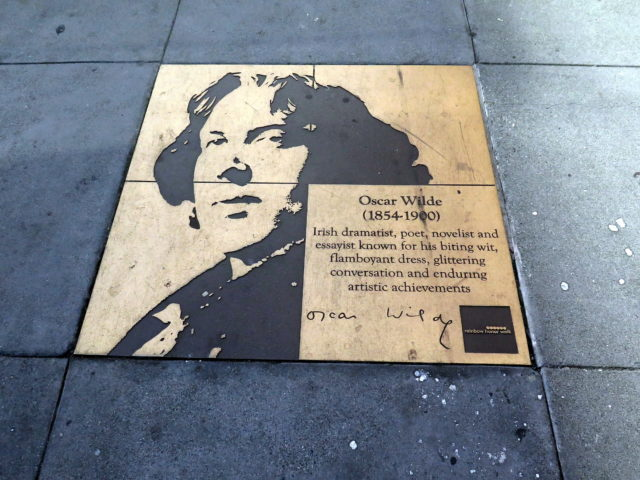 Oscar Wilde, master of wit and grande dame of gay icons. San Francisco, United States, North America.