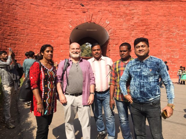 A friendly group at Delhi's Red Fort. Delhi, India, Asia.