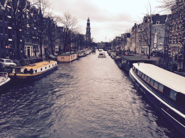 Take a walk along the Prinsengracht, one of Amsterdam's beautiful canals. Amsterdam, Netherlands, Europe.