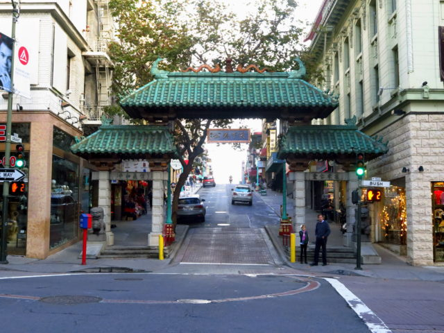 The Dragon Gate welcomes you to Chinatown. San Francisco, United States, North America.