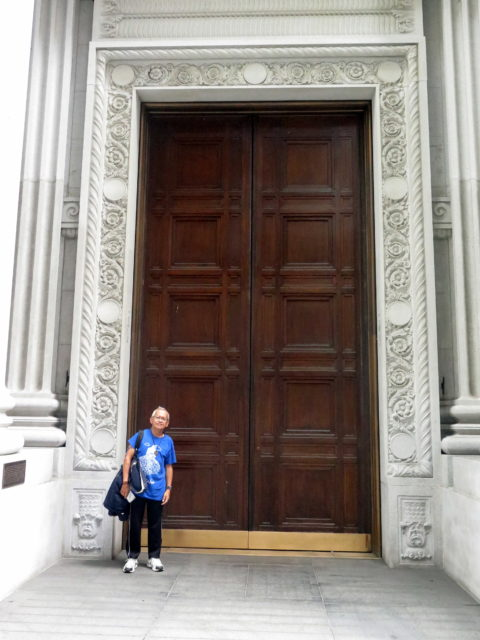 Francisco and a VERY BIG DOOR at the Bank of California Building. San Francisco, United States, North America.