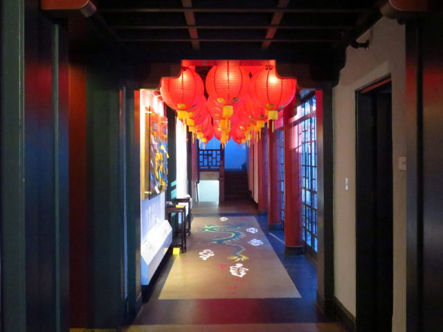 A decorative hallway at the Chinese Historical Society of America. San Francisco, United States, North America.