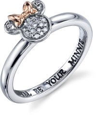 Disney Two Tone Sterling Silver 1/20 ctw Diamond Ill be ...
