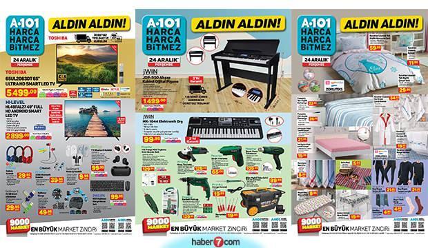 A101 24 Aralık aktüel kataloğu! Piyano, elektronik org, züccaciye, mobilya, elektrikli ürünler