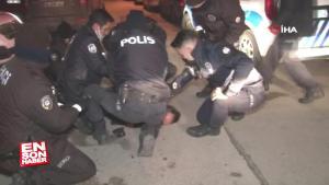Ankara'da polisi tehdit eden alkollü sürücü