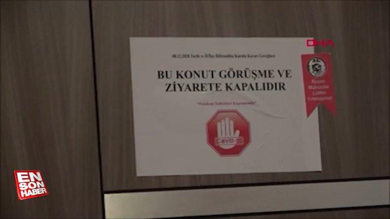 Balıkesir'de koronavirüs pozitif vakaların bulunduğu hanelere uyarısı yazısı asıldı