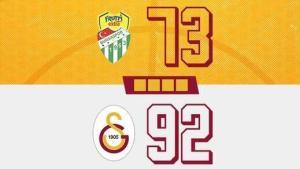 Basketbol Muhteşem Ligi   Frutti Extra Bursaspor 73-92 Galatasaray