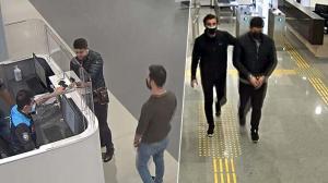 Böyle yakalandı! İstanbul Havalimanı'nda hareketli anlar