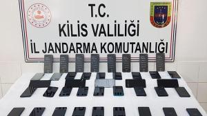 Kilis'te gümrük kaçağı 40 cep telefonu ele geçirildi