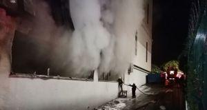 Kocaeli'de silah fabrikasında yangın