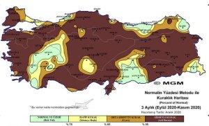 Meteorolojinin Haritası Kuraklığın Geldiği Noktayı Gözler Önüne Serdi