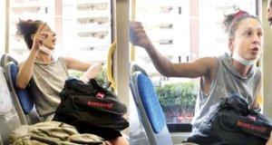 Otobüse maskesiz binmeye çalışan avukat: Herkes yan yana oturuyor, aracın içi insan dolu, neyin maskesi kardeşim?