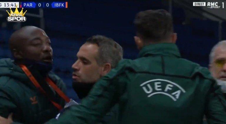 PSG – Başakşehir maçında 4. hakemden Webo'ya ırkçı söylem
