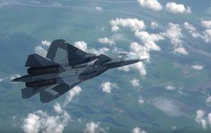Rusya'nın beşinci nesil Su-57 savaş uçağının pilotsuz modda denemeleri yapılıyor