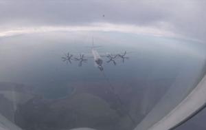 Tu-142 ve Su-30SM uçaklarından Kırım semalarında yakıt ikmali