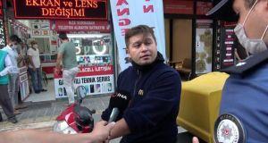 Tuzla'da maskesiz vatandaştan polise: Sen zor kullan, o zaman görüşürüz