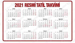 2021 resmi tatiller! Ramazan ve Kurban Bayramı tatili kaç gün olacak?
