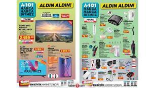 7 Ocak A101 aktüel ürünler kataloğu! Bu hafta A101'de hangi ürünler indirimli?