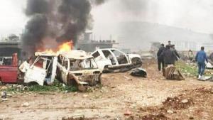 Afrin'de bomba yüklü araçla hücum: 3 meyyit, 18 yaralı