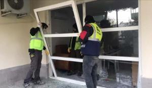 Akkuyu NGS'deki planlı patlatmada evlerde oluşan hasar gideriliyor