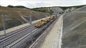 Ankara-Sivas YHT çizgisinin performans testlerini yapacak tren yola çıktı