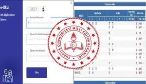 e-Okul öğrenci giriş ekranı! İlkokul, ortaokul karne notu öğrenme! 1. dönem ders katılım puanı!