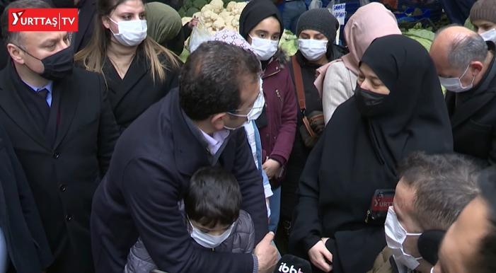 Ekrem İmamoğlu Semt Pazarında Vatandaşlarla Buluştu, Çocuklarla Kucaklaştı