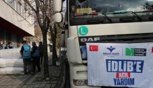 İnsan Vakfı İdlib'e yardım tırı gönderdi