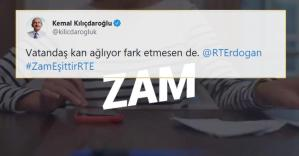 Kılıçdaroğlu, Erdoğan'ı Etiketleyerek Paylaştı: CHP'den '#ZamEşittirRTE' Videosu