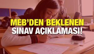 MEB yapılamayan okul sınavlarıyla ilgili kararını verdi!  Yarım kalan sınavlar Şubat ayında..