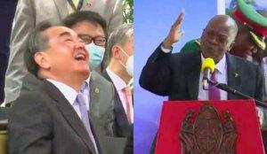 Tanzanyalı lider, ülkesinde maske takmayan Çinli bakana teşekkür etti