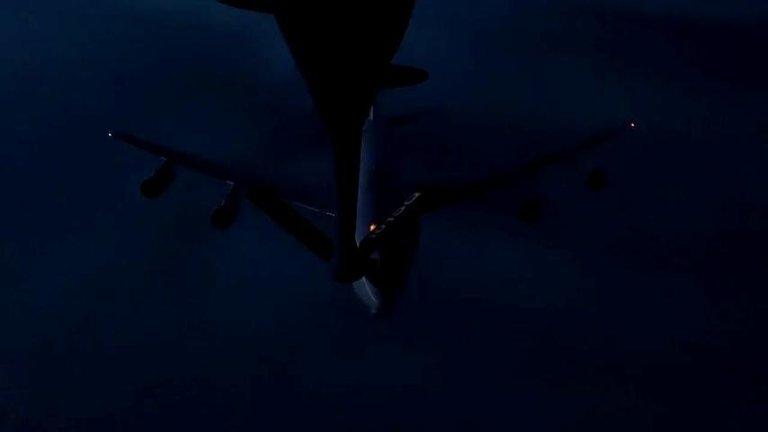 Türk Hava Kuvvetleri, Bir NATO Uçağına İlk Kez Gece Görevinde Havada Yakıt İkmali Yaptı